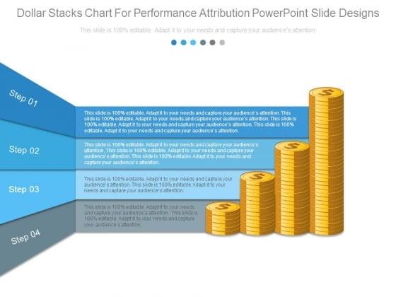 Dollar Stacks Chart For Performance Attribution Powerpoint Slide Designs