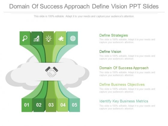 Domain Of Success Approach Define Vision Ppt Slides