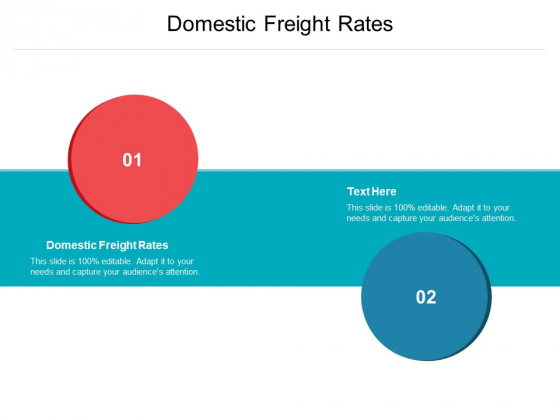 Domestic Freight Rates Ppt PowerPoint Presentation Summary Introduction Cpb Pdf