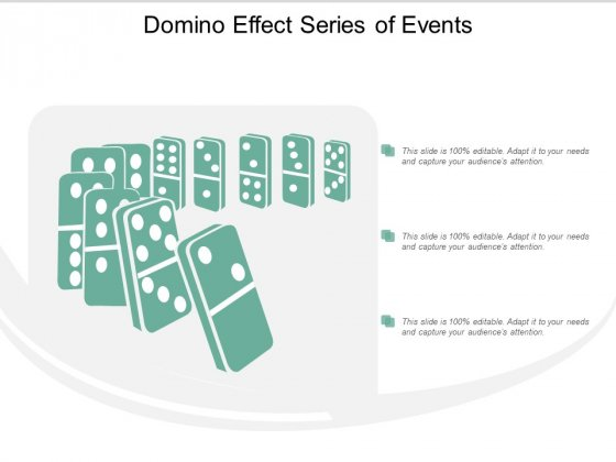 Domino Effect Series Of Events Ppt Powerpoint Presentation Styles Guidelines
