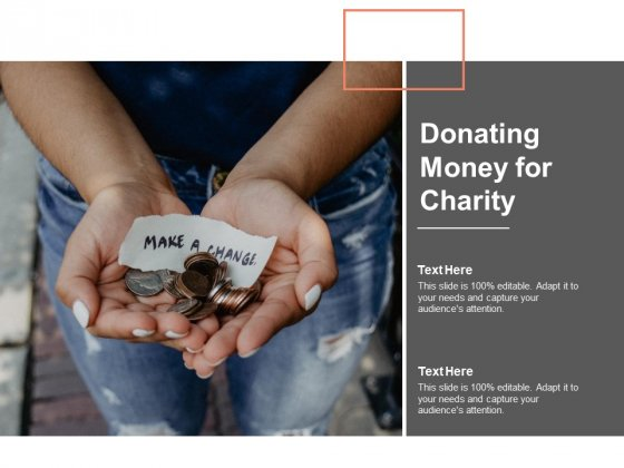 Donating Money For Charity Ppt Powerpoint Presentation Ideas Objects
