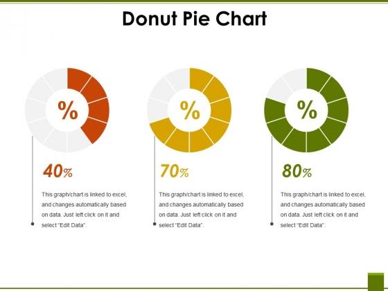Donut Pie Chart Ppt PowerPoint Presentation File Mockup