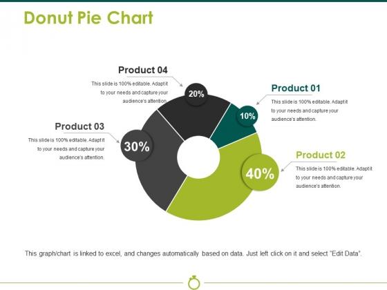 Donut Pie Chart Ppt PowerPoint Presentation File Portrait