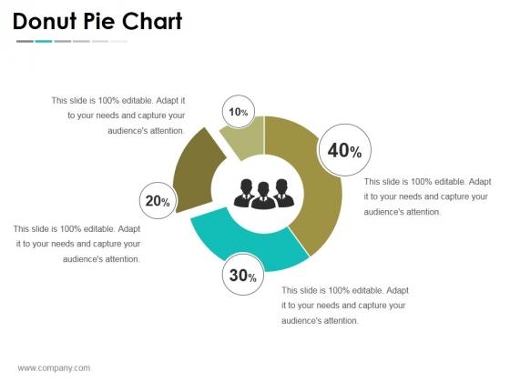 Donut Pie Chart Ppt PowerPoint Presentation File Slideshow