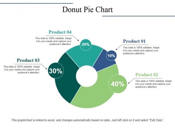 Donut Pie Chart Ppt PowerPoint Presentation Icon Background Designs