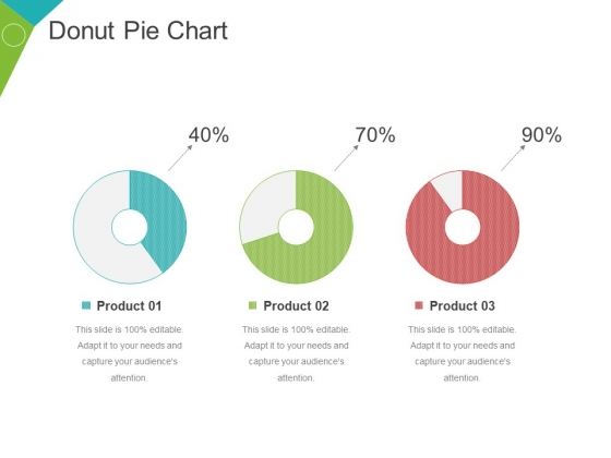 Donut Pie Chart Ppt PowerPoint Presentation Inspiration Guidelines