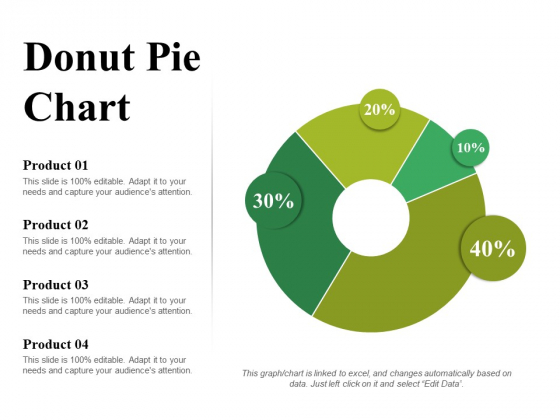 Donut Pie Chart Ppt PowerPoint Presentation Styles Example