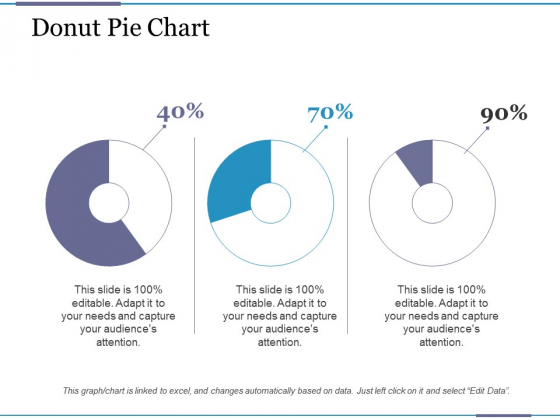 Donut Pie Chart Ppt PowerPoint Presentation Summary Example