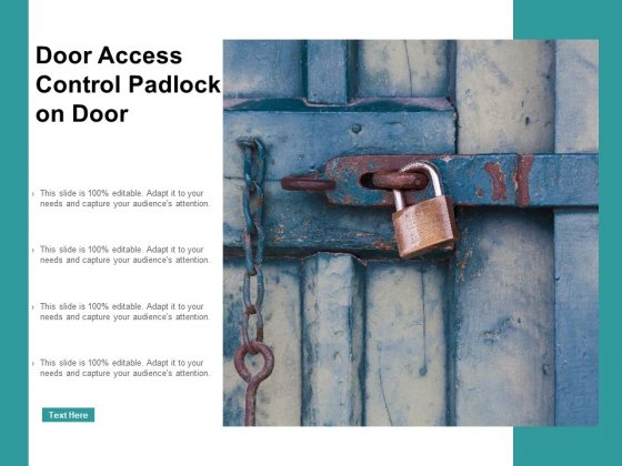 Door Access Control Padlock On Door Ppt PowerPoint Presentation Infographic Template Graphics Example