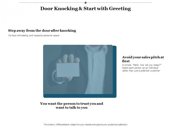 Door Knocking And Start With Greeting Ppt PowerPoint Presentation Ideas Deck