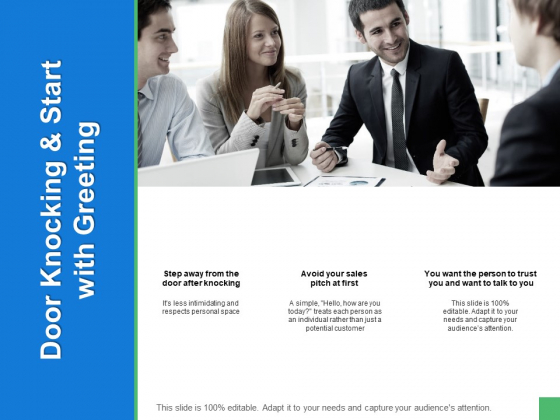 Door Knocking And Start With Greeting Ppt PowerPoint Presentation Summary Graphics Template