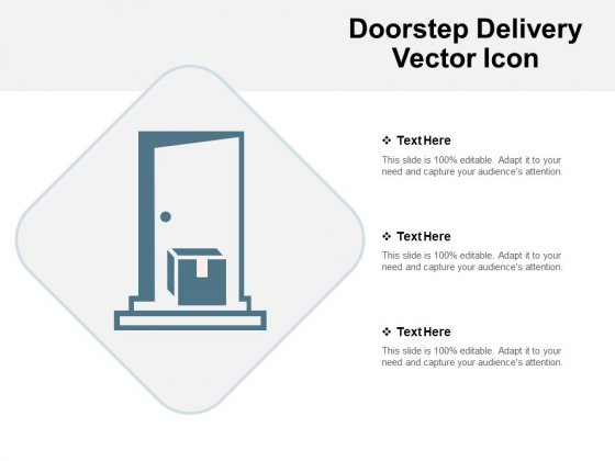 Doorstep Delivery Vector Icon Ppt PowerPoint Presentation Model Summary