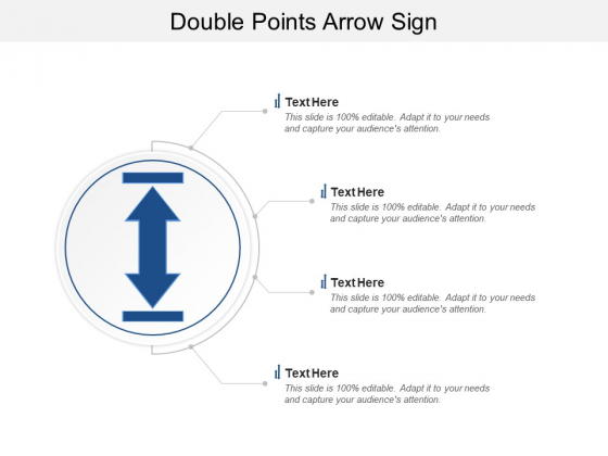 Double Points Arrow Sign Ppt PowerPoint Presentation Layouts Pictures