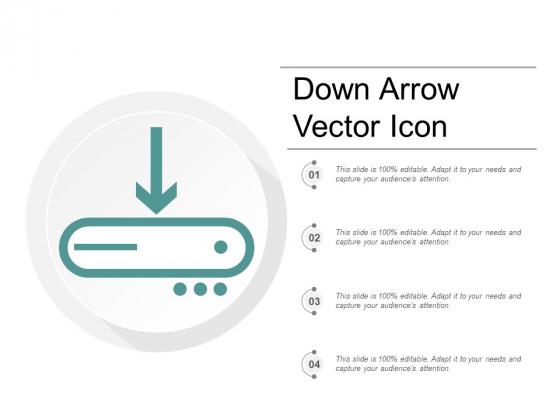 Down Arrow Vector Icon Ppt PowerPoint Presentation Portfolio Format