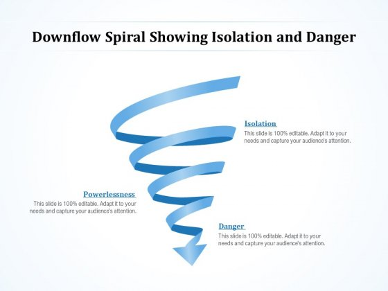 Downflow Spiral Showing Isolation And Danger Ppt PowerPoint Presentation Portfolio Styles PDF