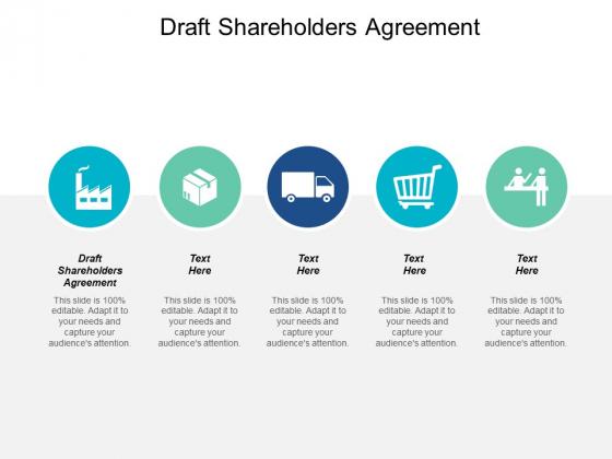 Draft Shareholders Agreement Ppt PowerPoint Presentation Summary Cpb
