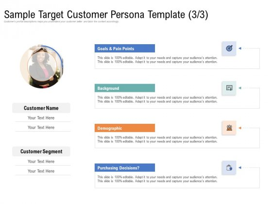 Drafting_A_Successful_Content_Plan_Approach_For_Website_Sample_Target_Customer_Persona_Template_Customer_Infographics_PDF_Slide_1