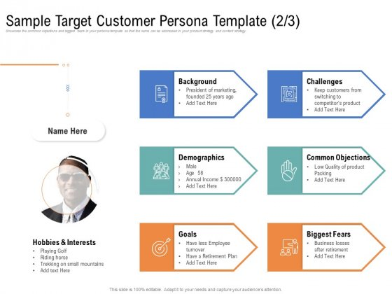 Drafting A Successful Content Plan Approach For Website Sample Target Customer Persona Template Goals Portrait PDF