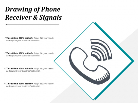 Drawing Of Phone Receiver And Signals Ppt PowerPoint Presentation Professional Tips