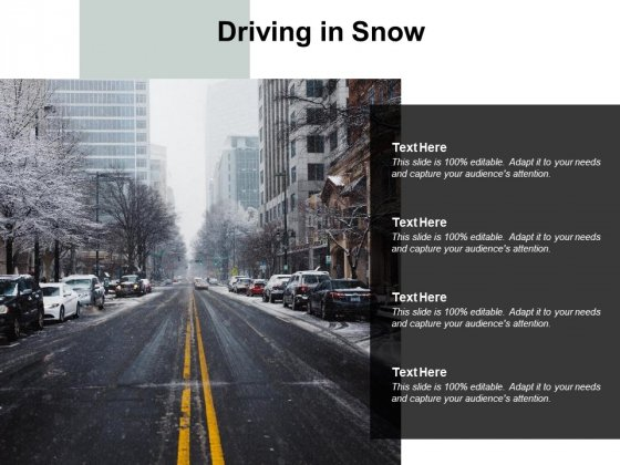 Driving In Snow Ppt PowerPoint Presentation Pictures Introduction