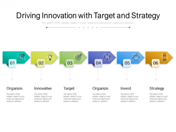 Driving Innovation With Target And Strategy Ppt PowerPoint Presentation Summary Graphic Images PDF