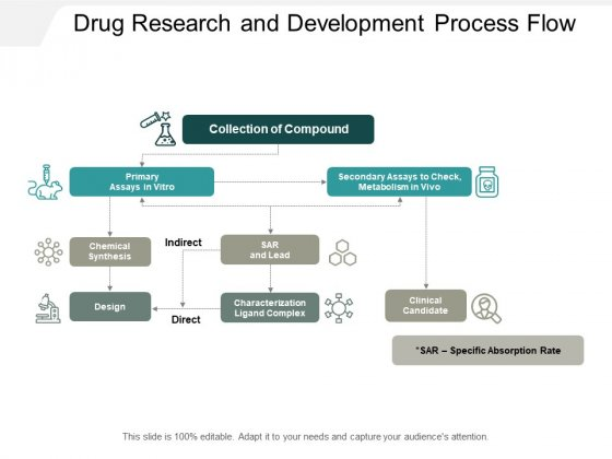Drug Research And Development Process Flow Ppt PowerPoint Presentation Professional Topics