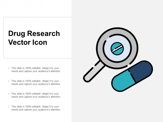 Drug Research Vector Icon Ppt PowerPoint Presentation Ideas Themes