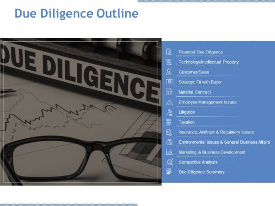 Due Diligence Outline Ppt PowerPoint Presentation Inspiration Gallery