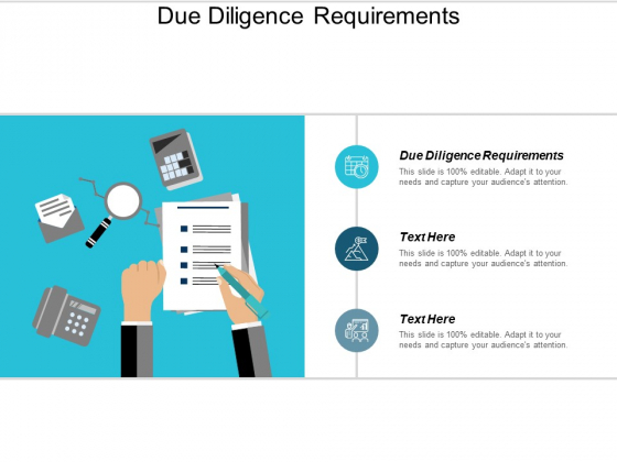 Due Diligence Requirements Ppt PowerPoint Presentation Professional Infographic Template Cpb