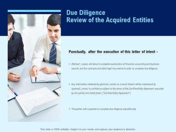 Due Diligence Review Of The Acquired Entities Ppt PowerPoint Presentation Ideas Slide Download