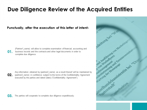 Due_Diligence_Review_Of_The_Acquired_Entities_Ppt_PowerPoint_Presentation_Pictures_Graphics_Example_Slide_1
