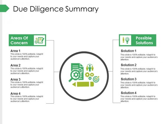 Due Diligence Summary Ppt PowerPoint Presentation Slides Icons