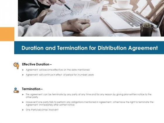 Duration And Termination For Distribution Agreement Ppt PowerPoint Presentation Model Vector