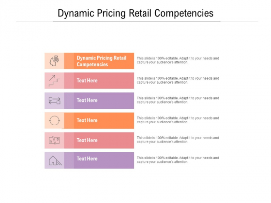 Dynamic Pricing Retail Competencies Ppt PowerPoint Presentation Inspiration Graphics Tutorials Cpb