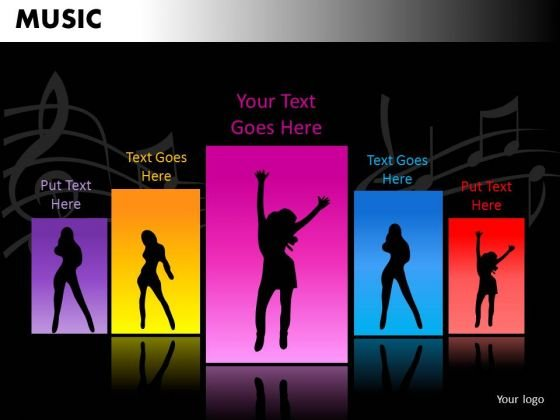 Dance Music PowerPoint Templates Editable Ppt Slides