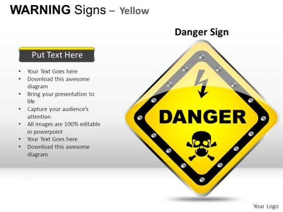 Dangerous Death Warning Signs PowerPoint Slides And Ppt Diagram Templates