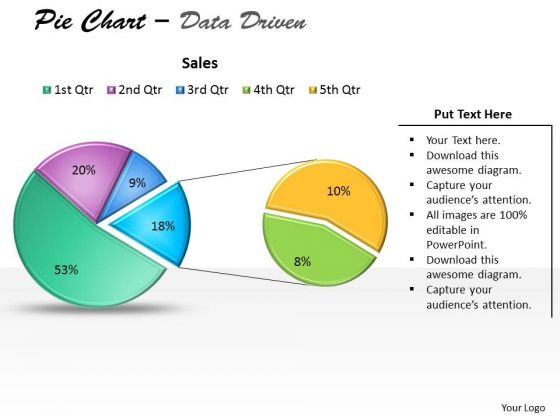 Data Analysis Excel Driven Pie Chart For Business Stratregy PowerPoint Slides Templates