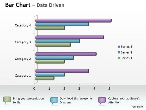 Data Analysis In Excel 3d Bar Chart For Business Statistics PowerPoint Templates