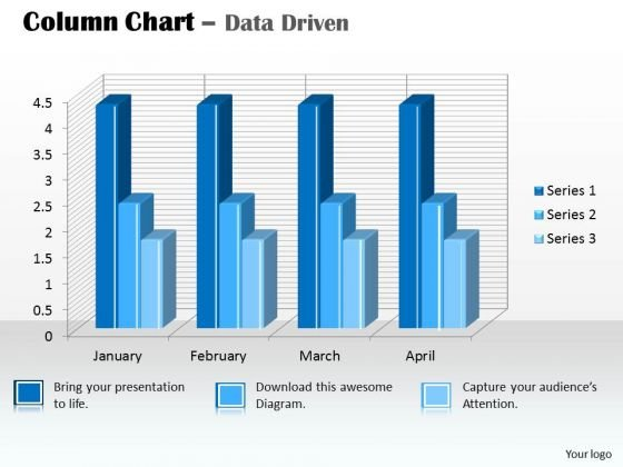 Data Analysis In Excel 3d Column Chart For PowerPoint Templates