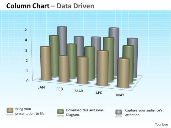 Data Analysis In Excel 3d Column Chart For Sets Of Information PowerPoint Templates