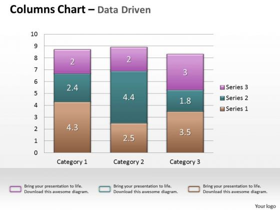 Data Analysis In Excel Column Chart For Business Analytics PowerPoint Templates
