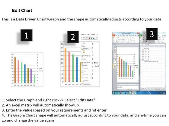 data analysis in excel of stock chart powerpoint templates