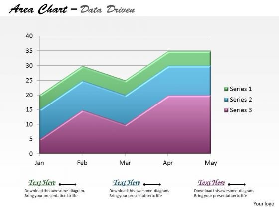 Data Analysis On Excel Driven Stacked Area Chart PowerPoint Slides Templates