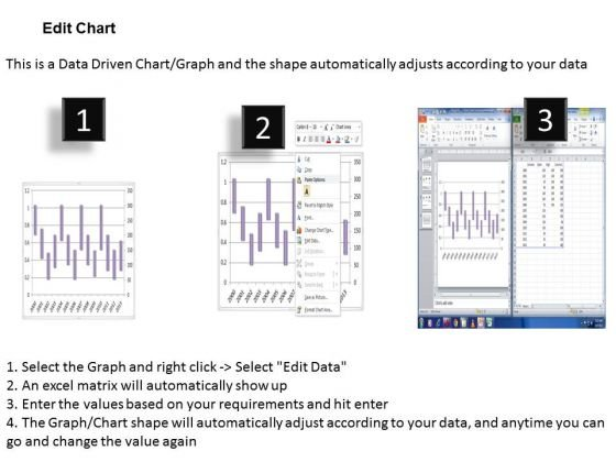 data analysis on excel driven stock chart for market history