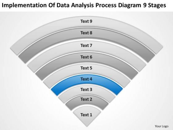 Data Analysis Process Diagram 9 Stages Develop Business Plan PowerPoint Slides