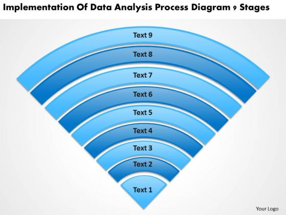 Data Analysis Process Diagram 9 Stages Help With Business Plan PowerPoint Slides