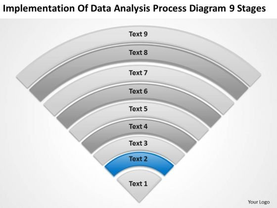 Data Analysis Process Diagram 9 Stages Ppt Business Plan PowerPoint Slide