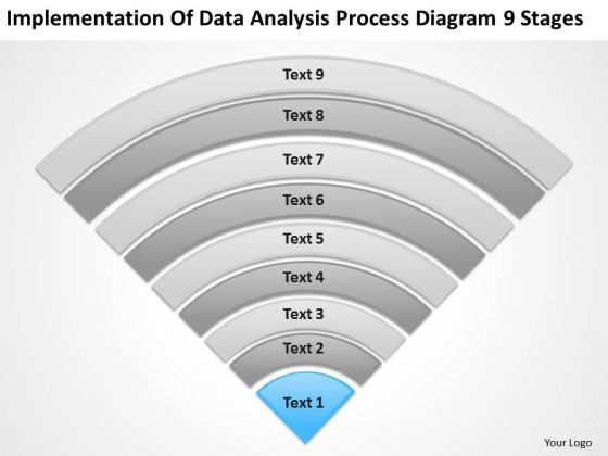 Data Analysis Process Diagram 9 Stages Ppt Business Plan PowerPoint Slides