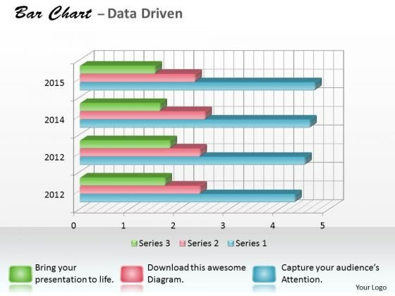 Data Analysis Programs 3d Bar Chart For Research In Statistics PowerPoint Templates