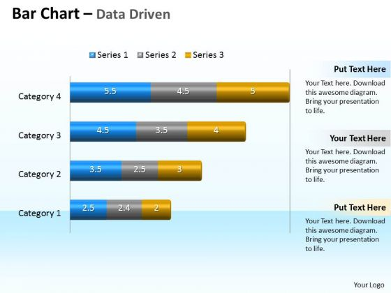 Data Analysis Programs 3d Bar Chart To Compare Categories PowerPoint Templates